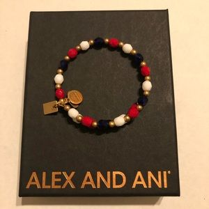 Alex and Ani Red, White and Blue Wrap Bracelet